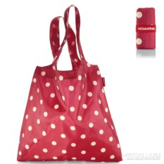 Складная сумка mini maxi shopper (цвет: ruby dots)