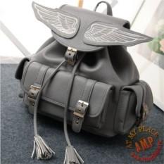 Серый рюкзак с крыльями Angel