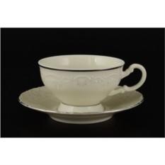Набор чайных пар Лиана. Платиновый узор