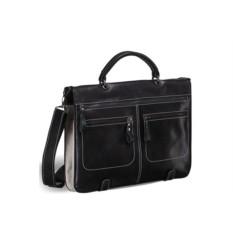 Кожаная сумка-трансформер Brialdi Dudley (цвет — черный)