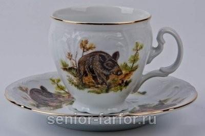 Набор для чая Bernadotte (Бернадот Охота) на 6 персон