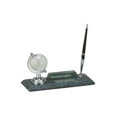 Настольный набор: глобус, держатель для визиток, ручка