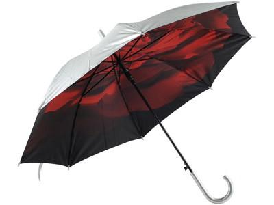 Зонт-трость Роза, полуавтоматический двухслойный