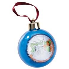 Синий елочный шар-шкатулка