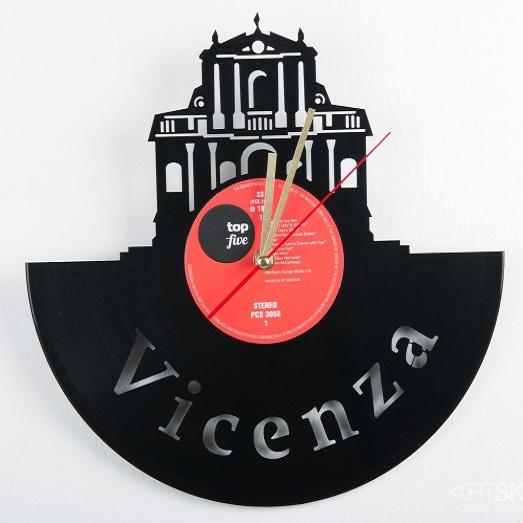 Часы из виниловой пластинки Виченца