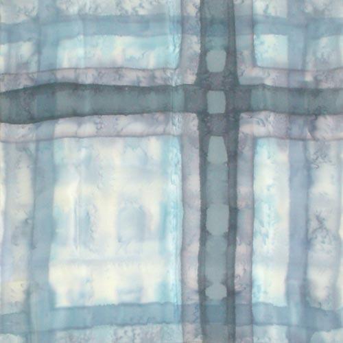 Платок шелковый Голубой