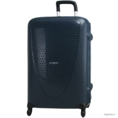 Темно-синий матовый чемодан Samsonite termo young размера L