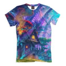 Мужская футболка с домом Psychedelic