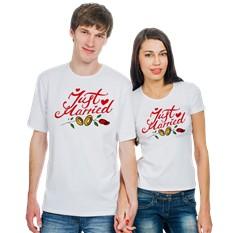 Парные футболки Just Married. кольца
