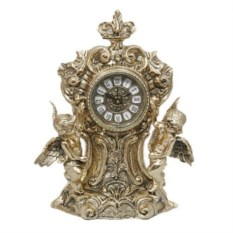 Часы-половинки с двумя амурами из бронзы
