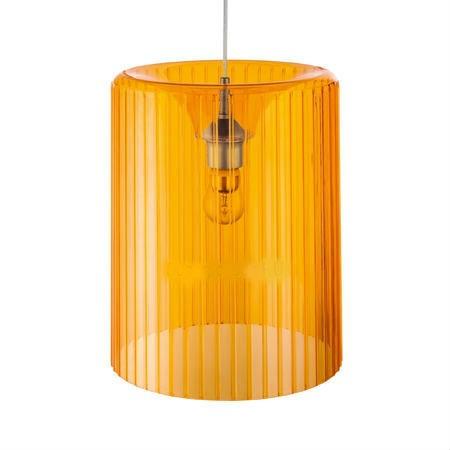 Подвесной светильник Roxanne для кухни, прозрачный оранжевый