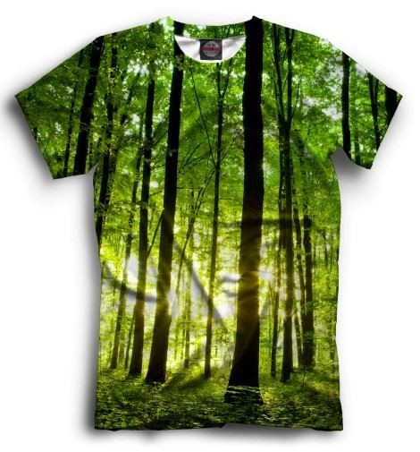 Мужская футболка Зеленый лес