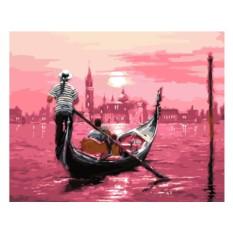Картины по номерам «В розовом свете»