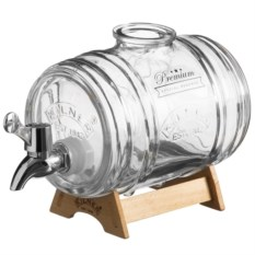 Диспенсер для напитков на деревянной подставке