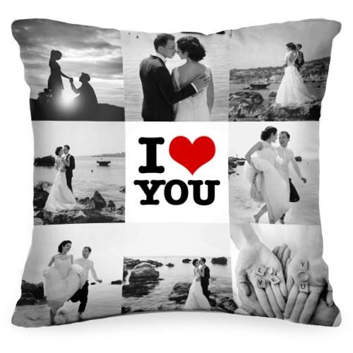 Подушка с вашим фото I love you