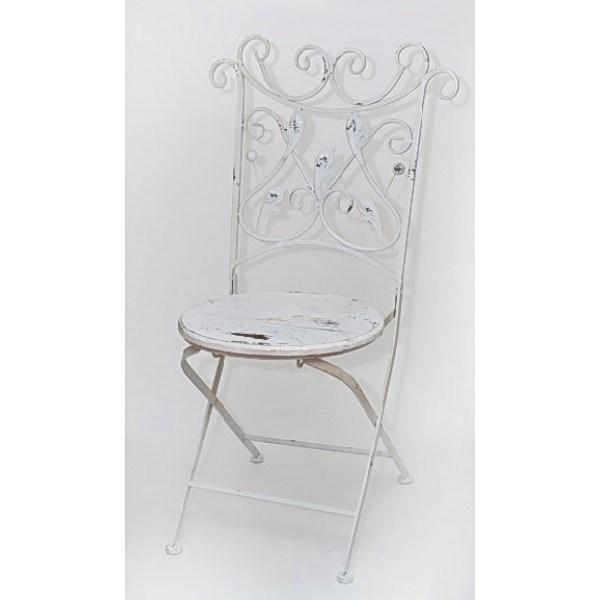 Белый кованый стул Прованс