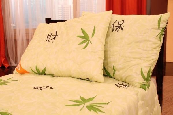 Комплект пастельного белья Нежная ночь (одеяло и подушка)