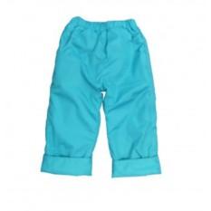 Бирюзовые утепленные штаны на весну и осень