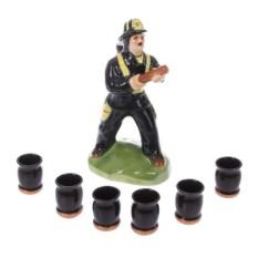 Штоф с рюмками Пожарный