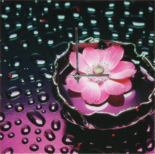 Часы с кристаллами сваровски Кувшинка