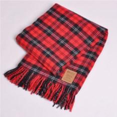 Красный плед Fine wool