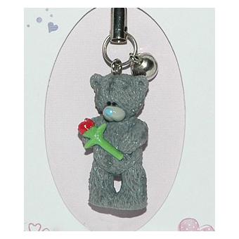 Брелок «Мишка с розой»