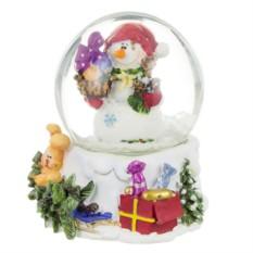Фигурка Новогодний шар. Снеговик с подарками