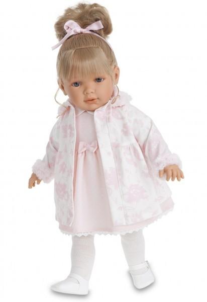 Озвученная кукла-малыш Елена в розовом