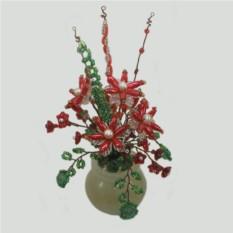 Волшебный аленький цветочек из камней-самоцветов