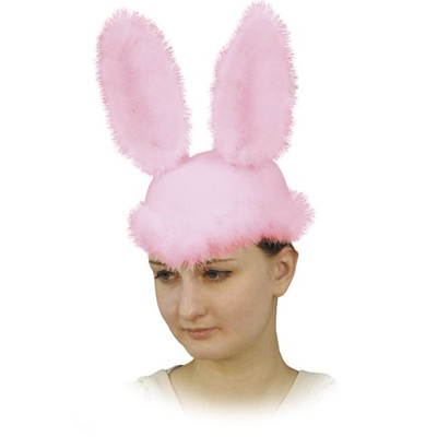 Карнавальная шляпка «Зайка розовый»