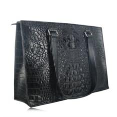 Женская сумка из крокодиловой кожи (цвет - шоколад)