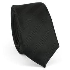 Узкий галстук (черный)