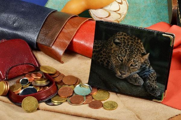 Портмоне с принтом Загадочный леопард