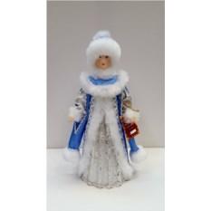 Фигурка из ткани Снегурочка шапке