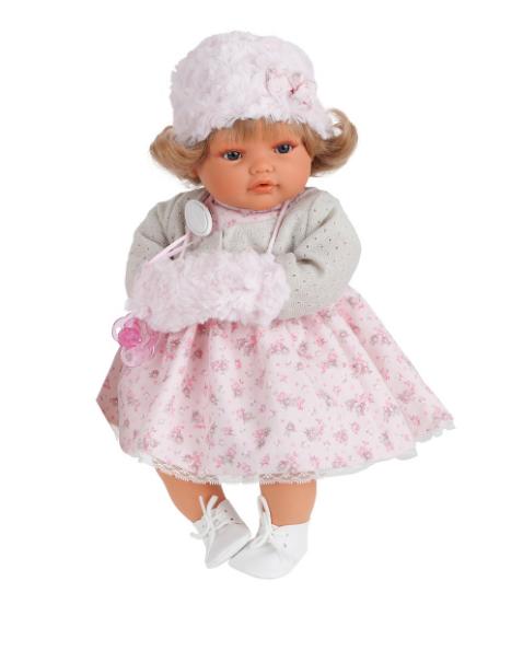 Плачущая кукла-малыш Белла в белом