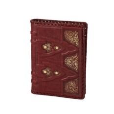 Коричневый кожаный ежедневник формата А6