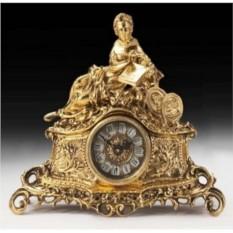 Каминные часы из бронзы Аделаида