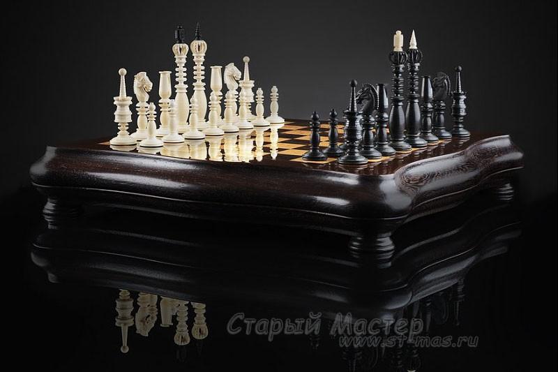 Шахматы «Калверт» бивень мамонта