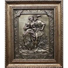 Картина из металла Влюблённые