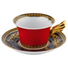 Чайная пара Versace Medusa, красная
