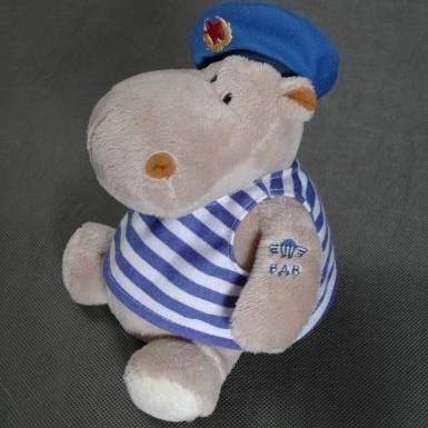 Мягкая игрушка Бегемот Десантник