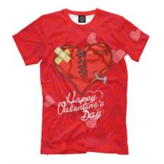 Мужская футболка Раненное сердце