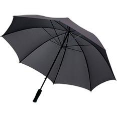 Зонт-трость противоштормовой, черный