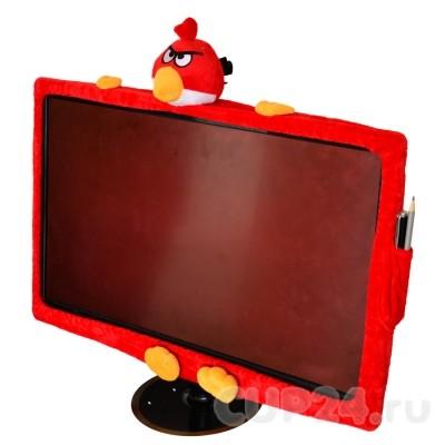 Чехол на монитор Angry birds (красный)