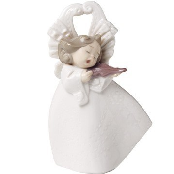 Фарфоровая статуэтка Ангел - Играя на скрипке
