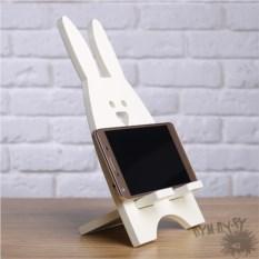Подставка для телефона и планшета Сливочный заяц