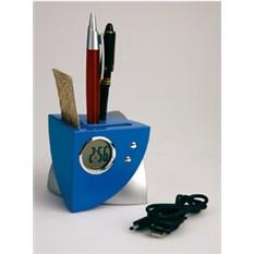 USB Hub на 4 порта с часами, подставкой под ручки и визитки
