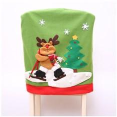 Новогодний чехол на стул «Новогодний олень»