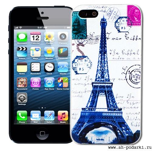 Чехол для iPhone 5 Eiffel Tower Collage