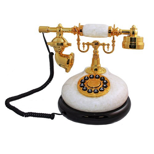 Ретро-телефон: Белый камень